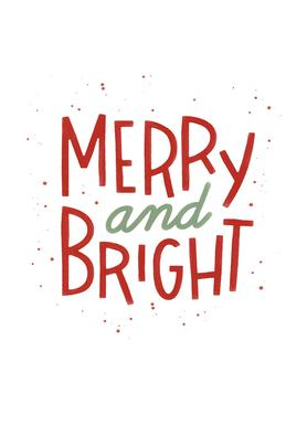 Merry And Bright Canvastavla