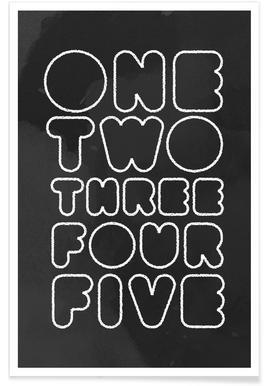 One Through Five affiche