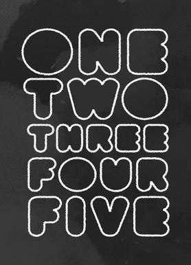One Through Five toile
