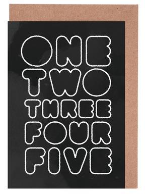 One Through Five cartes de vœux