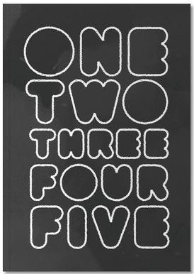 One Through Five carnet de notes