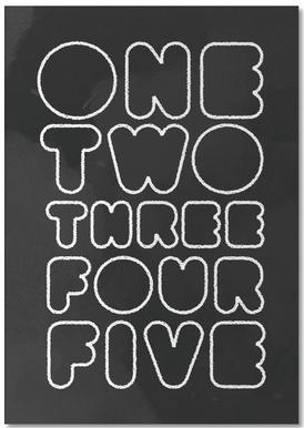 One Through Five bloc-notes