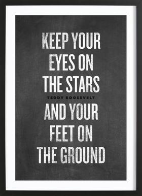 Eyes on the Stars ingelijste print