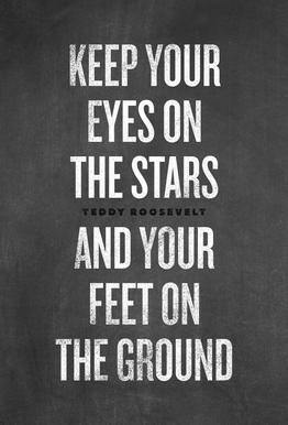 Eyes on the Stars Impression sur alu-Dibond