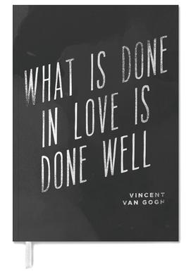 Done in Love agenda
