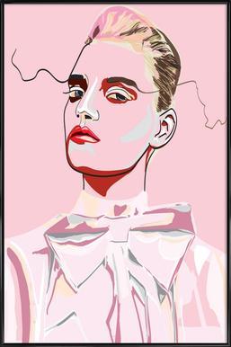 Pretty in Pink 1 - Poster im Kunststoffrahmen