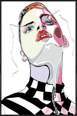 Pretty in Pink 4 - Poster im Kunststoffrahmen