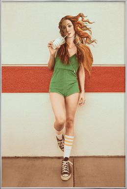 Venus Chillout Poster in Aluminium Frame