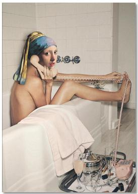 Girl with Pearl Earring Bath time -Notizblock