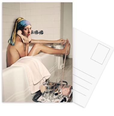 Girl with Pearl Earring Bath time -Postkartenset