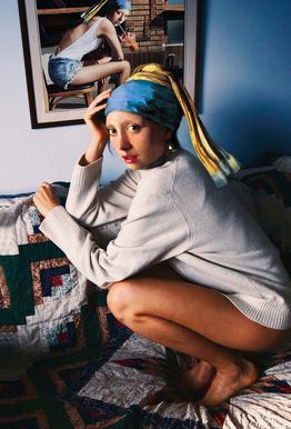 Girl with Pearl Earring Double Aluminium Print