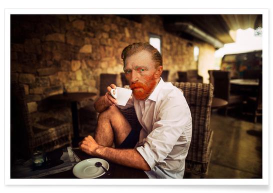 Van Gogh coffee time -Poster