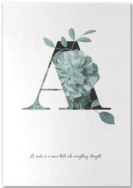 Flower Alphabet - A -Notizblock