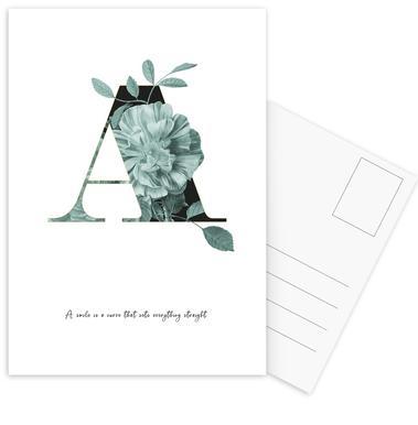 Flower Alphabet - A Postcard Set