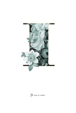 Flower Alphabet - I tableau en verre