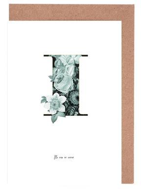 Flower Alphabet - I wenskaartenset