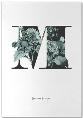 Flower Alphabet - M Notebook