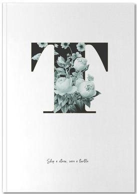 Flower Alphabet - T Notebook
