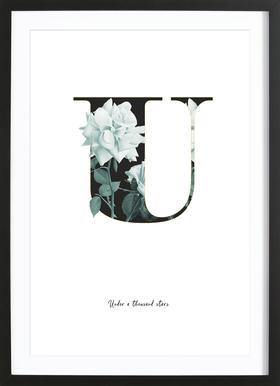 Flower Alphabet - U