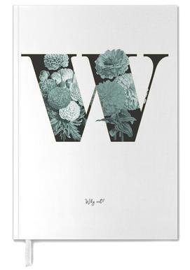 Flower Alphabet - W -Terminplaner