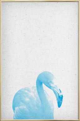 Flamingo 04 poster in aluminium lijst