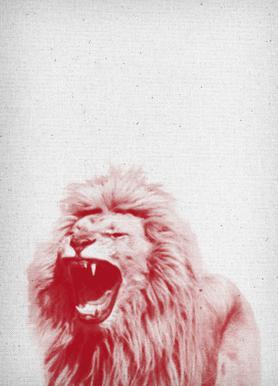 Lion canvas doek