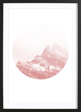 Mountain 02 affiche sous cadre en bois