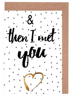 Met You Greeting Card Set