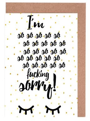 Sorry Greeting Card Set