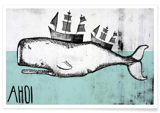 Ahoi Whale Poster