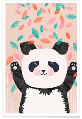 Panda kinderkamer illustratie poster