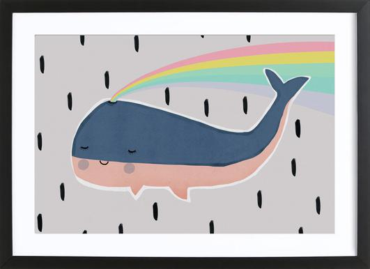 Happy Whale Framed Print
