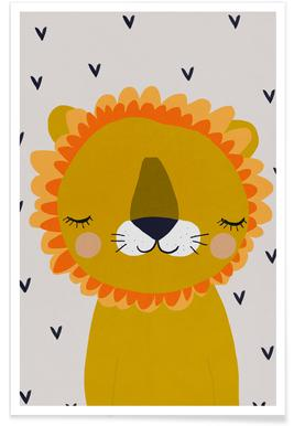 Lion Nursery Illustration Poster