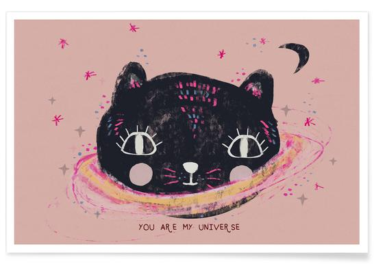 You Are My Universe Rosa Poster