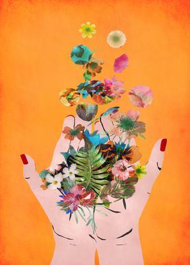 Frida's Hands Canvas Print