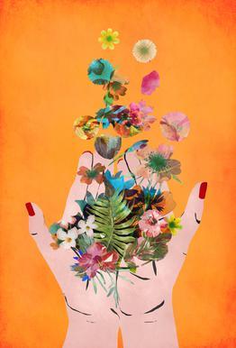 Frida's Hands alu dibond