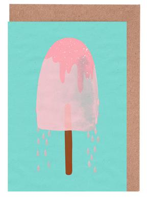 Ice Cream Strawberry Greeting Card Set