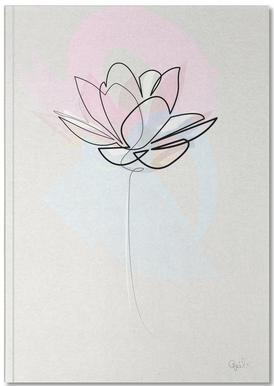 One Line Lotus Notebook
