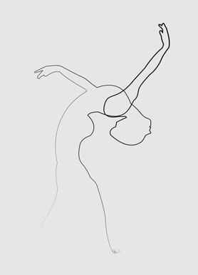 One Line Dancer Canvas Print