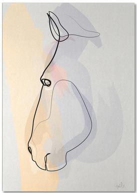 One Line Horse 1711 notitieblok