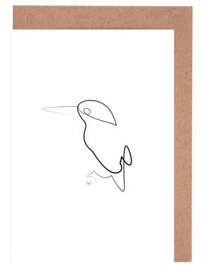 One Line Night Bird -Grußkarten-Set