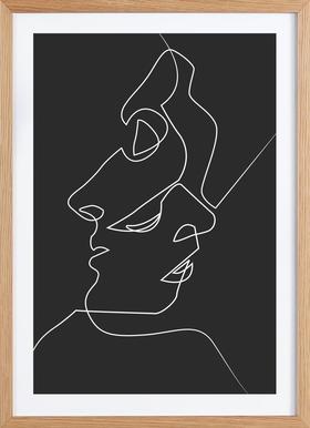 Close Noir - Poster in Wooden Frame