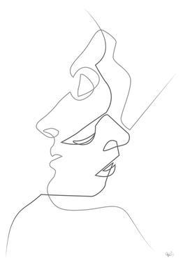 Close on White acrylglas print
