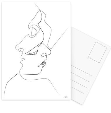 Close on White cartes postales