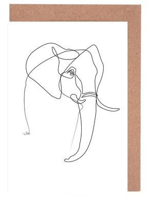Elephant Line cartes de vœux