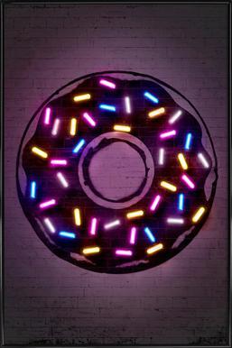 Donut -Bild mit Kunststoffrahmen