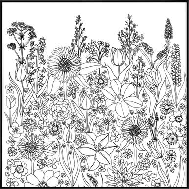 Blumenwiese 1 -Bild mit Kunststoffrahmen