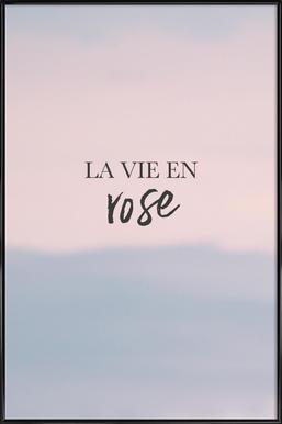 La Vie En Rose affiche encadrée