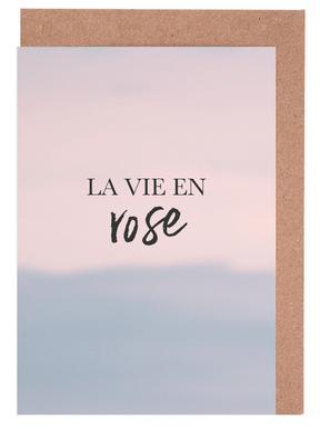 La Vie En Rose -Grußkarten-Set