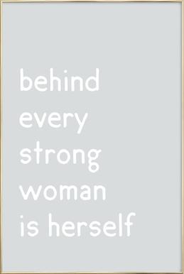 Herself -Poster im Alurahmen
